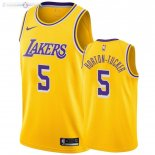 Maillot Los Angeles Lakers Nike NO.5 Talen Horton Tucker Jaune Icon 2019-20
