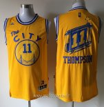 Maillot Golden State Warriors No.11 Klay Thompson Jaune