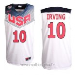 Maillot 2014 USA Irving No.10 Blanc