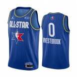 Maillot 2020 All Star NO.0 Russell Westbrook Bleu