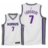 Maillot Enfants Sacramento Kings NO.7 Skal Labissiere Blanc Association 2018