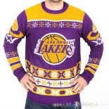NBA Unisex Ugly Sweater Los Angeles Lakers Jaune