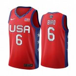 Maillot 2020 Jeux Olympiques Tokyo USMNT NO.6 Sue Bird Rouge