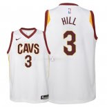 Maillot Enfants Cleveland Cavaliers NO.3 George Hill Blanc Association 2018