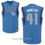 Maillot Dallas Mavericks No.41 Dirk Nowitzki Bleu