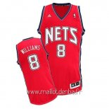 Maillot Brooklyn Nets No.8 Deron Michael Williams Rouge