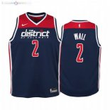 Maillot NBA Enfant Washington Wizards NO.2 John Wall Marine Statement 2019-20