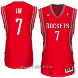 Maillot Houston Rockets No.7 Jeremy Lin Rouge
