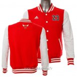 Veste En Laine Chicago Bulls No.23 Michael Jordan Rouge