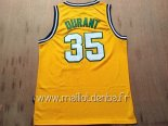 Maillot Seattle Supersonics No.35 Kevin Durant Retro Jaune