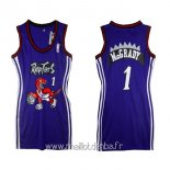 Maillot Femme Toronto Raptors No.1 Tracy McGrady Pourpre