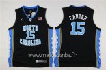 Maillot NCAA Enfants North Carolina No.15 Vince Carter Noir