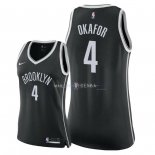 Maillot Femme Brooklyn Nets NO.4 Jahlil Okafor Noir Icon 2018