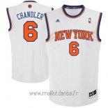 Maillot New York Knicks No.6 Kristaps Porzingis Blanc