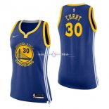 Maillot Femme Golden State Warriors No.30 Stephen Curry Bleu Icon