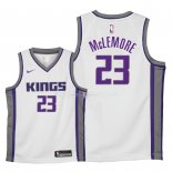 Maillot Enfants Sacramento Kings NO.23 Ben McLemore Blanc Association 2018