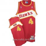 Maillot Atlanta Hawks No.4 Webb Rouge