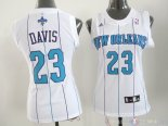 Maillot Femme New Orleans Pelicans NO.23 Anthony Davis Blanc