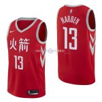 Maillot Houston Rockets Nike NO.13 James Harden Nike Rouge Ville