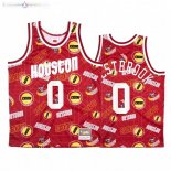 Maillot NBA Houston Rockets Tear Up Pack NO.0 Russell Westbrook Rouge Hardwood Classics