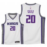Maillot Enfants Sacramento Kings NO.20 Harry Giles Blanc Association 2018