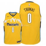 Maillot Enfants Denver Nuggets NO.0 Isaiah Thomas Jaune Statement 2018