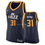Maillot Femme Utah Jazz NO.31 Georges Niang Marine Icon 2018