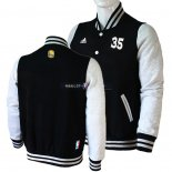 Veste En Laine Golden State Warriors NO.35 Kevin Durant Noir