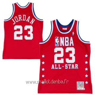 Maillot 1989 All Star No.23 Michael Jordan Rouge