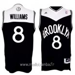 Maillot Brooklyn Nets No.8 Deron Michael Williams Noir Blanc