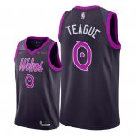 Maillot Minnesota Timberwolves Nike NO.0 Jeff Teague Pourpre Ville 2018/19