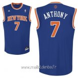 Maillot New York Knicks No.7 Carmelo Anthony Bleu