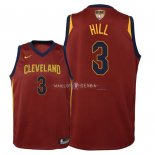 Maillot Enfants Cleveland Cavaliers Finales Champions 2018 NO.3 George Hill Rouge Icon Patch