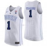 Maillot NCAA Duke NO.1 Zion Williamson Blanc