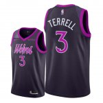 Maillot Minnesota Timberwolves Nike NO.3 Jared Terrell Pourpre Ville 2018/19