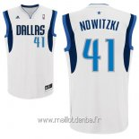 Maillot Dallas Mavericks No.41 Dirk Nowitzki Blanc
