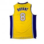 Maillot L.A.Lakers No.8 Kobe Bryant Jaune Pourpre