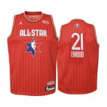 Maillot Enfant 2020 All Star NO.21 Joel Embiid Rouge