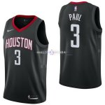 Maillot Houston Rockets Nike NO.3 Chris Paul Noir Statement