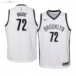 Maillot Enfants Brooklyn Nets NO.72 Biggie Smalls Blanc Association 2019/2020