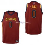 Maillot Enfants Cleveland Cavaliers No.0 Kevin Love Rouge Icon 2017/2018