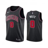 Maillot Chicago Bulls Nike NO.0 Coby White Noir Statement 2019-20
