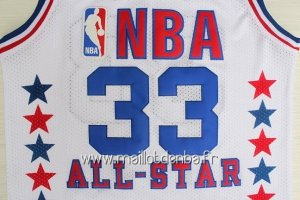 Maillot 1990 All Star No.33 Larry Joe Bird Blanc