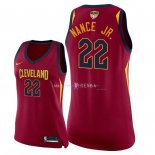 Maillot Femme Cleveland Cavaliers NO.22 Larry Nance Jr Rouge Icon Patch Finales Champions 2018