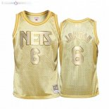 Maillot Enfants Brooklyn Nets NO.6 Deandre Jordan Or Hardwood Classics