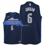 Maillot Enfants Dallas Mavericks NO.6 DeAndre Jordan Noir Statement 2018