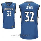 Maillot Minnesota Timberwolves No.32 Karl Anthony Towns Bleu