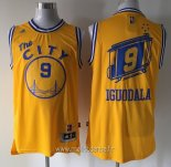 Maillot Golden State Warriors No.9 Andre Iguodala Retro Jaune
