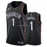Maillot Brooklyn Nets Nike NO.1 D'Angelo Russell Nike Noir Ville 2018/2019