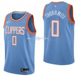 Maillot Los Angeles Clippers Nike NO.0 Sindarius Thornwell Nike Bleu Ville